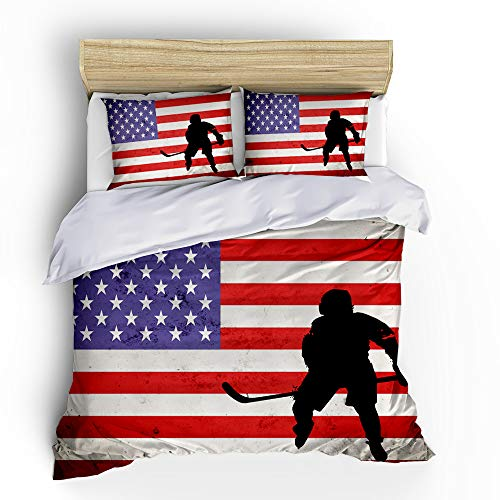 3pcs Ice Hockey Sports Bedding