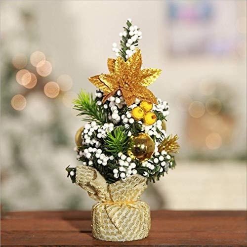 HTHJA 20cm Mini Árbol De Decoración De Navidad, Decoraciones del Día De...