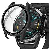 Miimall Funda Compatible con Huawei Watch GT2 46mm con Vidrio Templado, [Cubierta Completa] [con Escala] 2 en 1 PC Case y Protector de...