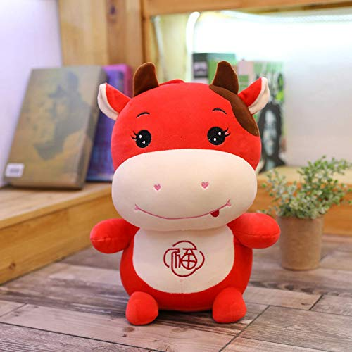 N / A plush cow toy cute blessing cow plush toy animal cow plush doll children toy children birthday 15cm