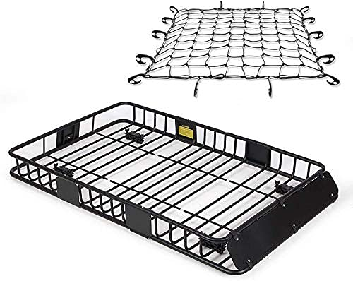 SmartenPlus Universal 64' Heavy Duty Roof Cargo with (Removable) Extension Car top Luggage Holder...