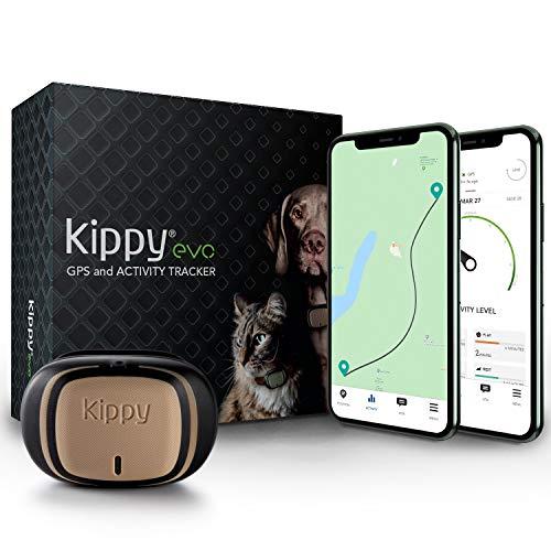 KIPPY - EVO - El Nuevo Collar GPS para Perros y Gatos - Seguimiento de Actividad, 38 gr, Waterproof, Bateria 10 dias, Brown Wood