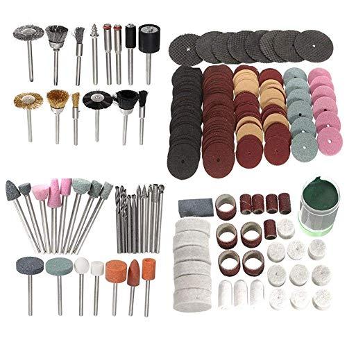 XUSHEN-HU Polishing Wheel Abrasive Tool, 223pcs 1/8 Inch Shank Polishing Wheel Rotary Tool Accessories Bits Set for Dremel