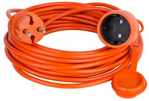 Verlängerungskabel Verlängerung Strom-Kabel ohne Schuko ORANGE 20 m (20.0 Meter)