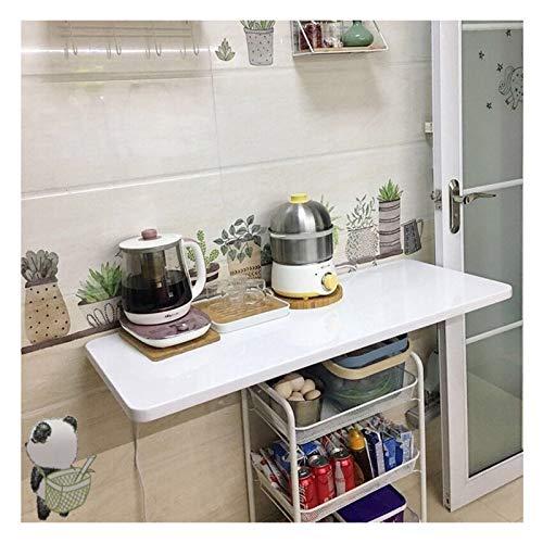 AMDHZ Mesa Plegable Pared Plegable Escritorio Pared Colgar En La Pared Blanco Pintura De Piano Fácil Instalación Usado para Restaurante Sala De Estar Ordenador (Color : White, Size : 60x40cm)