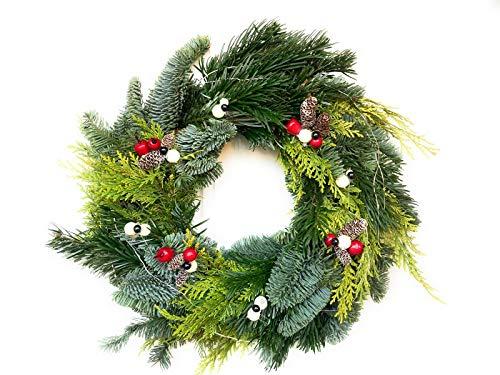 Weihnachtsgirlande aus echtem Pin für Tür oder Wand