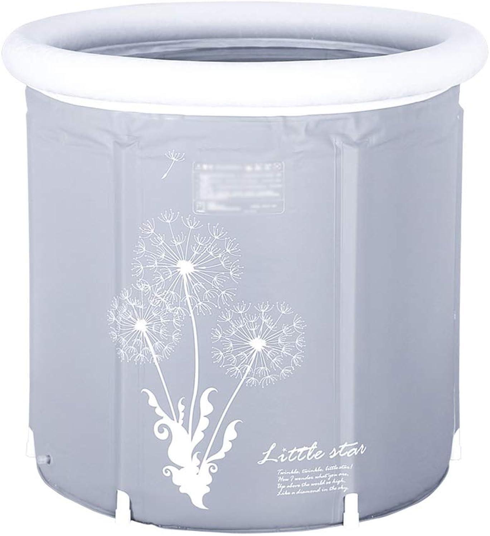 Aufblasbare Badewanne grau Erwachsene Kinder zu Hause Isolierung Kunststoff Verdickung tragbare Klapphalter Badewanne (gre   70  75CM)