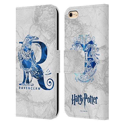 Head Case Designs sous Licence Officielle Harry Potter Ravenclaw Aguamenti Deathly Hallows IX Coque en Cuir à Portefeuille Compatible avec Apple iPhone 6 / iPhone 6s