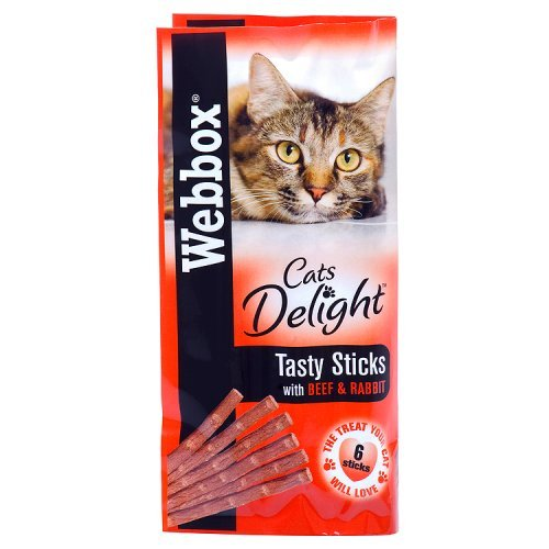 Webbox Cat Delight Treat Sticks - Beef & Rabbit