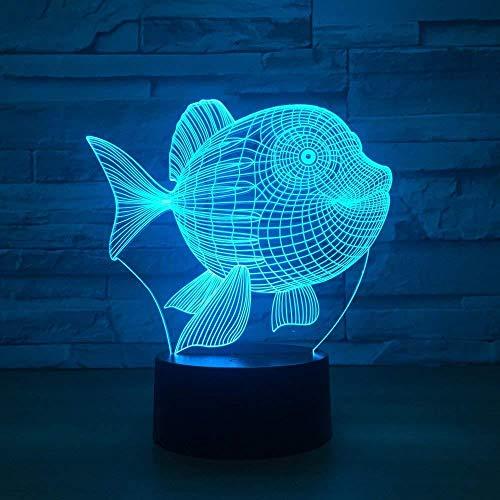 Wangzj 3D Visual Marine Organism Led Usb Desk Lamp