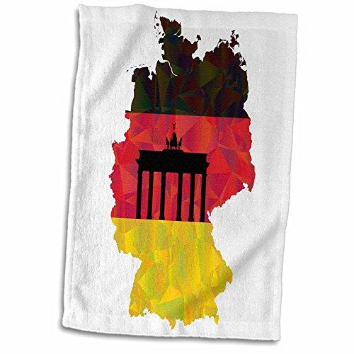 3D Rose Deutschland-Flagge mit Brandenburger Tor, Handtuch, 38,1 x 55,9 cm