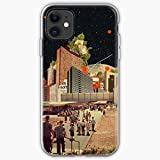 Langø Road Vintage Software People Space Collage Surreal Computer   Custodia per Telefono per iPhone 11, iPhone 11 PRO, iPhone XR, iPhone 7/8 / SE 2020 - TPU Antiurto Interno Protettivo
