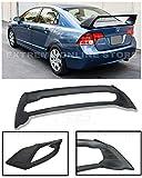Extreme Online Store for 2006-2011 Honda Civic Sedan Models | EOS Mugen RR Style ABS Plastic Primer Black JDM Rear Trunk Lid Wing Spoiler