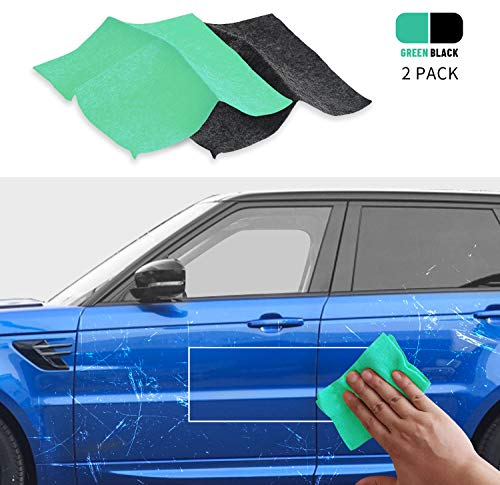 【2 Pcs 】 Nano Magic Cloth,Multipurpose Scratch Remover ,Strong Decontaminant and Light Scratch Repair for Car, Wardrobe Door Handle