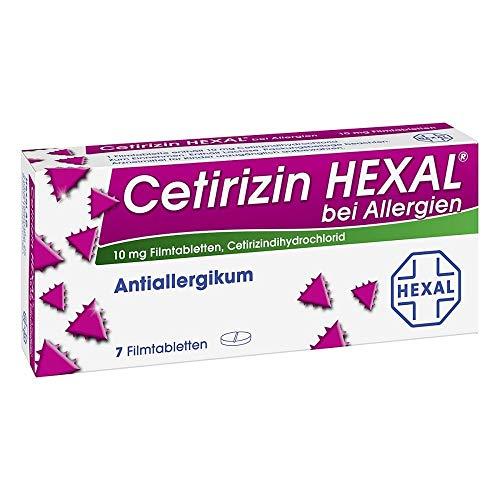CETIRIZIN HEXAL Filmtabletten bei Allergien 7 St