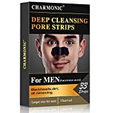 Blackhead Pore Strips, 33 pcs Charcoal Peel Off Strips, Blackhead Remover Pore Strips for Men, Deep Cleansing Strips Remove for Nose Area and Face Oil and Blackheads