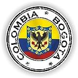 Tiukiu Colombia Bogotá Sello Adhesivo Redondo Bandera para
