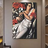 KWzEQ Nórdico Lienzo Cartel Sala de Estar decoración del hogar Moderno Arte de la Pared Pintura al óleo Imagen del Cartel,Pintura sin Marco,50x75cm