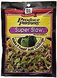 Super Slaw. Pack of 12 Item weight - 1.01 oz.IngredientsSugar, Salt, Onion, Carrots, Spices, Nonfat Yogurt