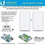 UniFi AC Mesh Wireless Access Point UAP-AC-M-PRO-US 802.11ac 3x3 MIMO Outdoor Wi-Fi (2 Units)