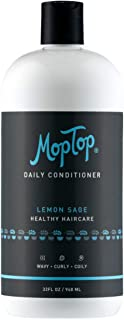 32oz MopTop Salon Daily Conditioner for Dry, Thick, Wavy, Curly & Kinky-Coily, Color Treated & Natural Hair, made w/Aloe &...