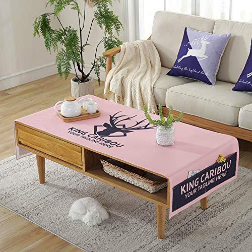YOUYUANFTable de Tela Paño de algodón Pequeña Mesa de café Fresca Mantel de Comedor Impermeable Nordic Ins Mantel Mantel Rectangular Comida80x190 cm
