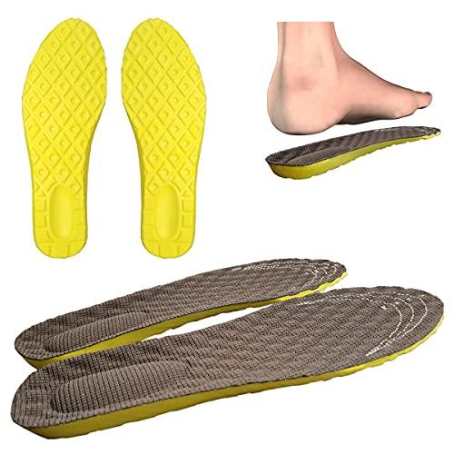 Plantillas de zapatos de uso diario de espuma viscoelástica, ergonómicas, amortiguadoras, ortopédicas, antigolpes, para hombre y mujer (36-40), color marrón