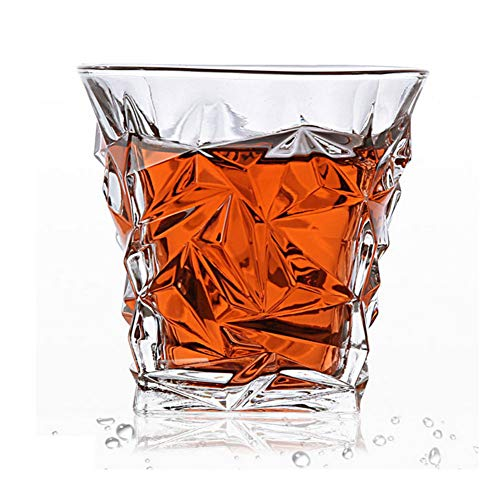 ZKGHJOKZ Whiskyglas Wijnglas Loodvrij Hittebestendig Transparant Kristal Bier Whisky Brandewijn Wodkakop Multi-patroon Drinkware Bar Geschenken