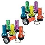 Fun Express Plastic Large Beam Flashlight Key-chains (2 Pack, 24 Pcs)