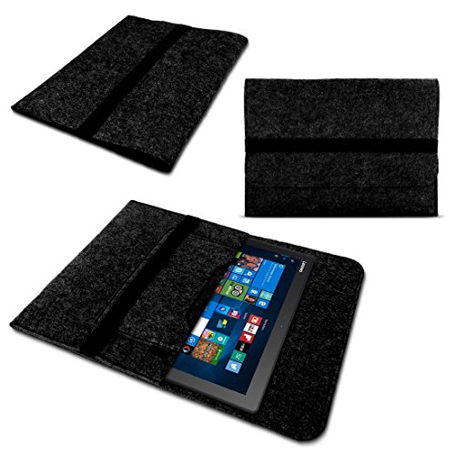 Tablet Sleeve Tasche für Dell Venue 11 Pro Hülle dunkelgrau Notebook Filz Hülle