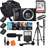 Sony Alpha a6100 Mirrorless Digital Camera (Body Only) Kit +Accessory Bundle with 128GB Memory & Photo/Video Editing Software