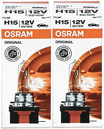 Osram Original Line H15, 64176 12V 2 Stück in Faltschachtel Halogen-Scheinwerferlampen Autolampen ECE Zertifizierung 55W