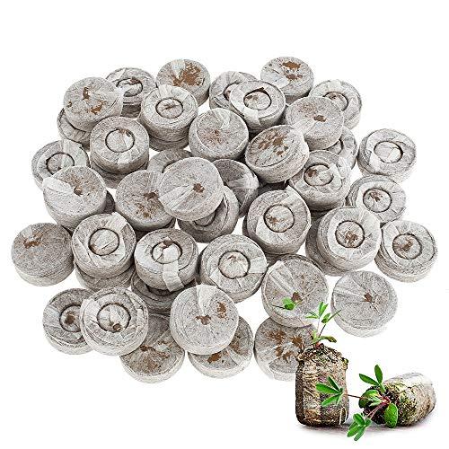 N/U 50 pellets de turba, turba en discos de turba prensada para el cultivo de plantas de jardinería, arranque de propagación y germinación para plantas en maceta Familiares