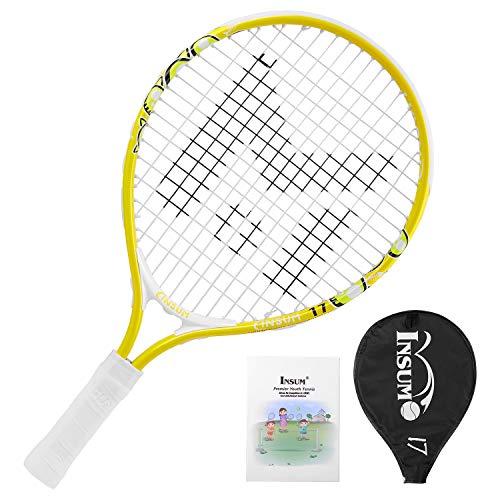 Kids Tennis Racket Starter Kit for Kids Age 4 and Under with Shoulder Strap Bag Mini Tennis Racket Toddler Tennis Raquet 17 Inch