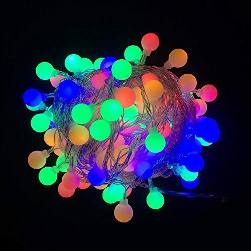 Led Pequeña Luz De Color Bola De Luz Luz De Flash Batería Cadena Luz 20M 200 Luz Enchufable Bola De Color
