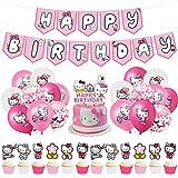Hello Kitty Decoración De Fiesta - Miotlsy Hello Kitty Decoración De Fiesta, Cumpleaños Bebe Globos Decoracion,Themed Party Decorations Supplies Para Niñas, Despedidas De Soltera