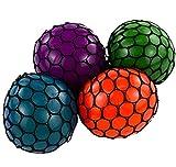 Rhode Island Novelty 3 Inch Mesh Squishy Balls, Pack of 12