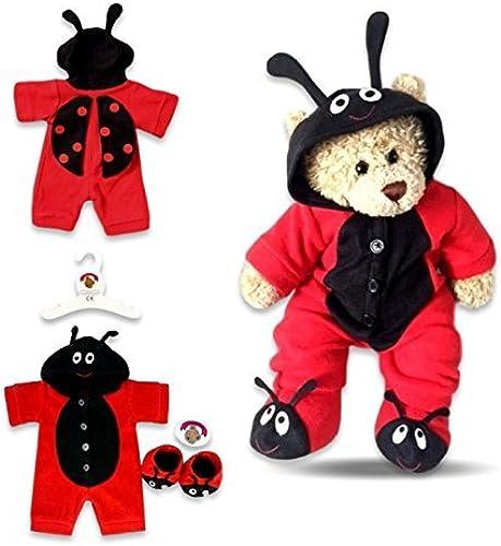 Build Your Bears Wardrobe Teddy Bear Clothes Fleece (rot schwarz) by Build your Bears Wardrobe