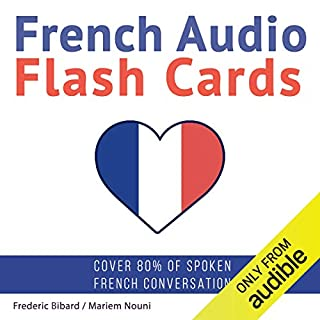 French Audio Flash Cards audiobook cover art