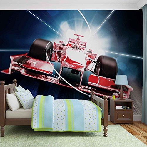 Auto Formule 1 rood fotobehang wandafbeelding afbeelding behang (325FW)