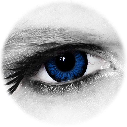 * BIG * SEXY * SWEET * farbige Kontaktlinsen - blau - inklusive gratis Kontaktlinsenbehälter von DarXity, mit und ohne Stärke für schöne große Augen - Big Eyes Mangalinsen – Cool Blue, 2 Stück / BC 8.6 / DIA 15.0 / 0.00 Dioptrien