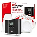 HiBoost Cell Phone Signal Booster, Up to 10,000 SQ. FT, Signal Extender Cellular Booster Amplifier for Home Office, Cell Signal Booster Compatible AT&T, T-Mobile, Verizon, Sprint