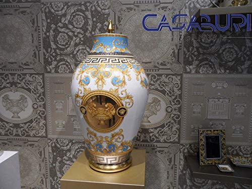 Versace Prestige Gala Bleu Deckelvase 76 cm