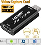 Microware Video Capture Cards, HDMI to USB 2.0, High Definition 1080p 30fps, Video Record via DSLR, Camcorder, Action Cam for Live Broadcasting, Live Streaming, Gaming, Teaching, Video Conference gaming capture cards Dec, 2020