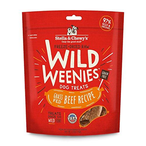 Stella & Chewys Freeze-Dried Raw Beef Wild Weenies Dog Treats, 3.25 oz bag
