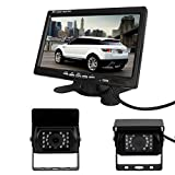 Pathson Car Rear View Kit for Bus Truck 7 inch LCD Monitor +