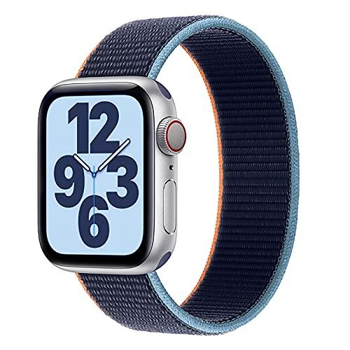 Adecuado Para La Correa De Reloj De Apple Iwatch6 / 5/4 / 3/2 / 1 / Se Nylon Loop Empease La Correa De Un Solo Bucle De La Bucle Para Los Hombres Y (Size:42/44mm XS: fit for 145mm-158mm wrist,Color:B)