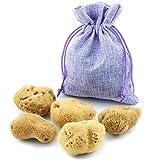 Éponge Menstruelle – Ensemble de 5 dans un sac de jute – Alternative écologique aux tampons – Éponges Naturelles extra doux & écrue
