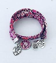 Bracciale Liberty rosa Liberty, gioiello Liberty, bracciale in tessuto liberty, idea regalo, bracciale profumato, gioiello...