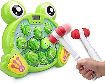 BALOBOO Super Frog Game Toddler Toys - 2 Hammers Baby Interactive Fun Toys Toddler Activities Games with Music&Light for Boys Girls Ages 2 3 4 5 6 from FIVE STAR